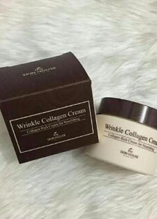 Питательный антивозрастной крем с морским коллагеном the skin house wrinkle collagen cream