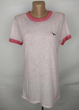 Футболка оригинальная розовая от victoria's secret uk 8/36/xs