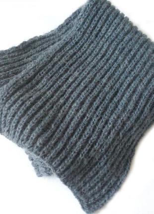 Теплый мужской шарф спицами