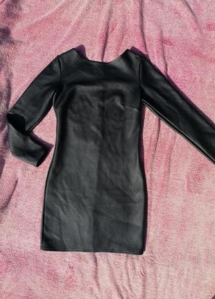 Платье по фигуре с напылением под кожу с молнией по спинке
