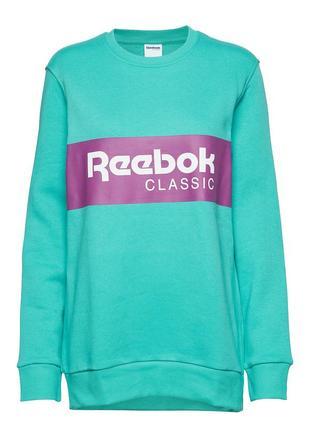 Reebok classics iconic crewneck sweatshirt свитшот реглан флис теплый оригинал