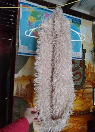 Снуд шарф барашек травка плюшевый мягкий пушистый теплый bershka