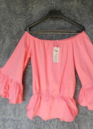 ✅ шикарная блуза с пышными рукавами волнами