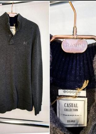 Джемпер bonobo jeans поло реглан свитер толстый шерстяной кофта натуральный