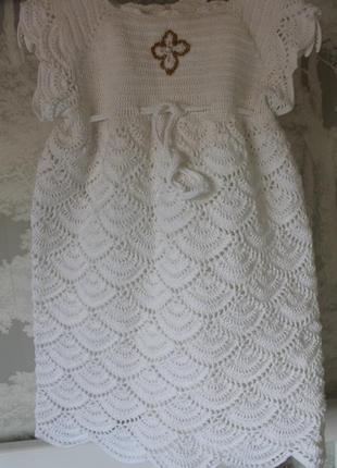 Платье для крещения/сукня для хрещення + повязка в подарунок