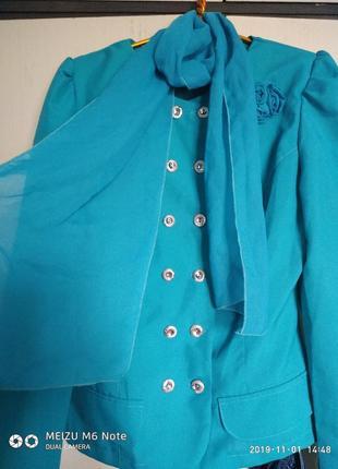 Пиджак+шифон шарфик