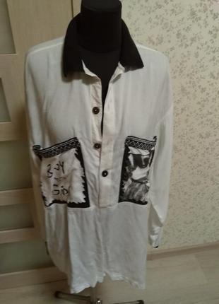 Стильная рубаха,похожа на вышиванку