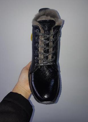 Кожаные зимние ботинки2 фото
