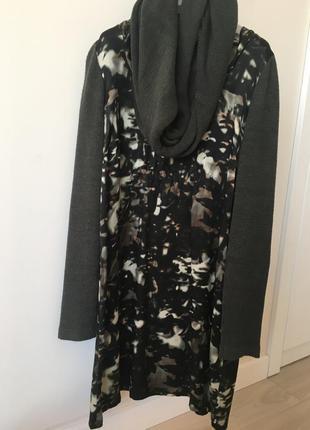 Платье шёлк с дополнительный шарфом хомут