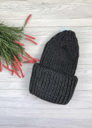 Теплая шапка, объемная шапка, вязаная шапка