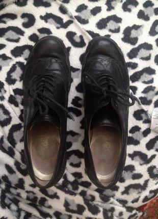 Gabor ботинки ботильоны черные кожа