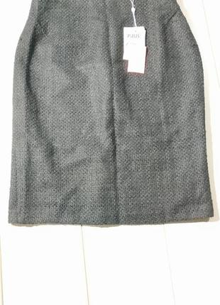 Тёплая  юбка миди карандаш полушерсть xl
