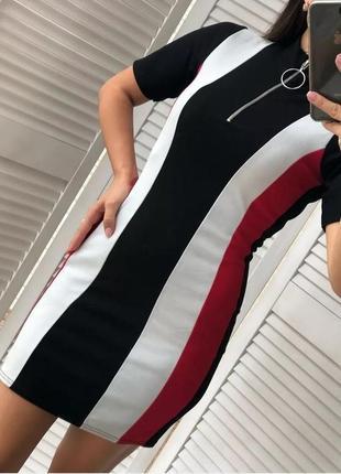 Платье prettylittlething в полоску 10р