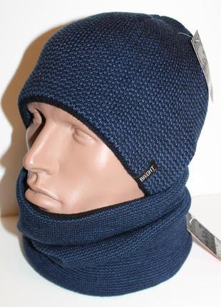 Комплект шапка и баф на флисе 54-62р