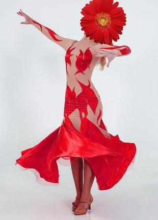 Платье стандарт для спортивных бальных танцев