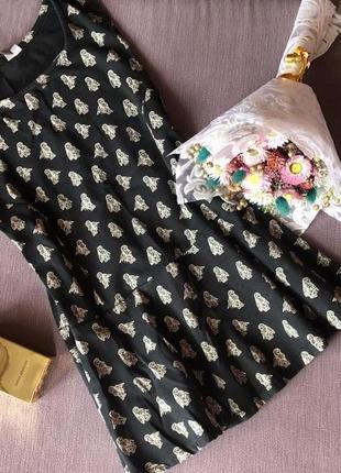 Блуза с баской в совушки new look