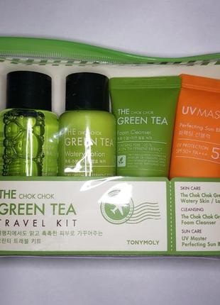 Тревел набор ухода от tony moly с зеленым чаем