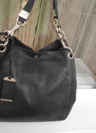 Гламурная объёмная узнаваемая сумка хобо шоппер от jimmy choo оригинал кожа