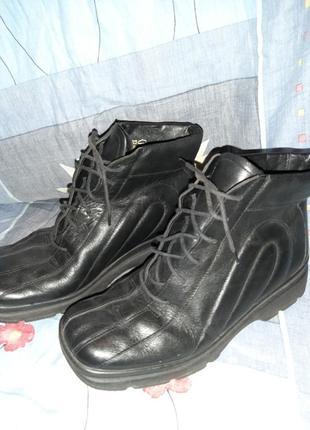 Кожаные ботинки известного германского бренда