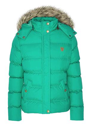 Бирюзово-зеленая дутая куртка brave soul