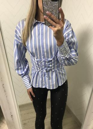 Рубашка с имитацией корсета s