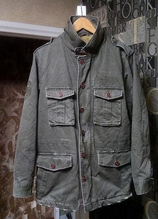 Винтажный field jacket от guess теплая зимняя куртка милитари m 65