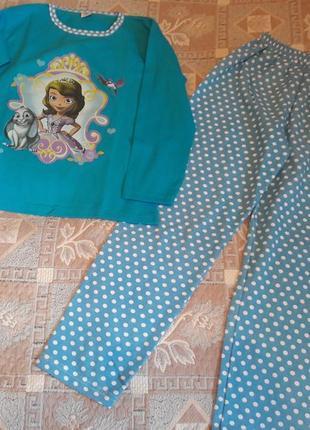 Пижама для девочки 11-12 лет, турция, трикотаж с начесом