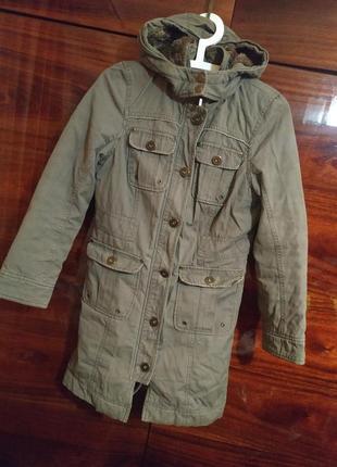 Пальто куртка парка плащ осенний демисезонный