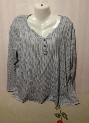 Тоненькая трикотажная котоновая блузочка (пог 65-70 см)