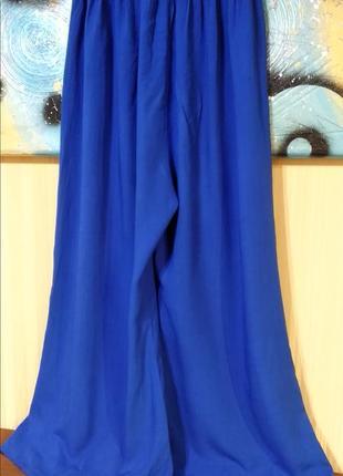 Синие электрик хлопковые штаны юбка-брюки