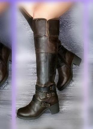 37-38р кожа! новые ixxo франция,ботфорты,высокие сапоги с эффектом старения