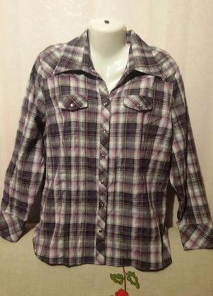 Рубашка жатка на кнопках (пог 62-66 см)
