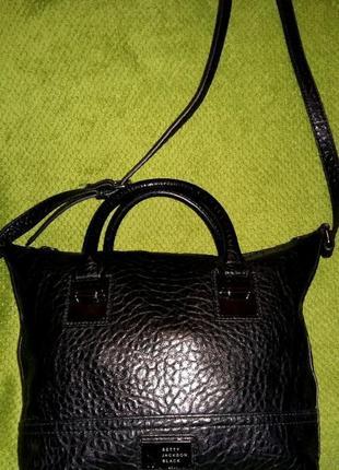 Эксклюзивная стильная сумка от бренда betty jackson black.оригинал
