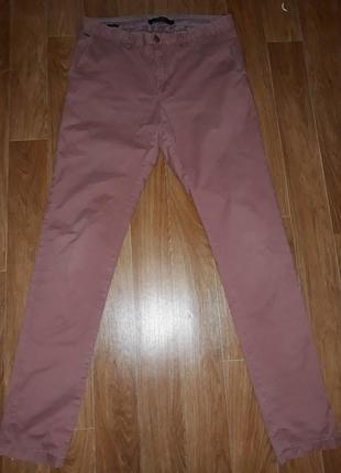 Стильные стрейчевые мужские джинсы брючного кроя scotch & soda в идеальном состоянии