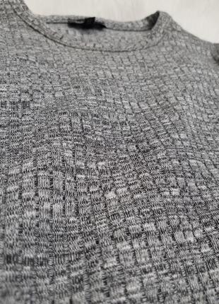 Серое облегающее платье в рубчик мини  river island6 фото