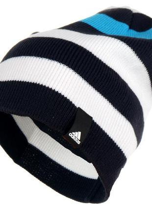 Спортивная шапка adidas striped beanie, унисекс