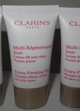 Крем для лица clarins дневной multi-régénérante jour (для всех типов кожи),15мл