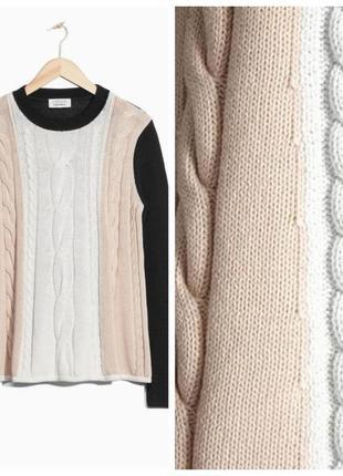 Кофта реглан свитшот джемпер пуловер вязаный косы