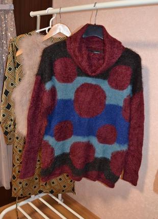 Дизайнерский пушистый свитер с шерстью carolin biss р.38