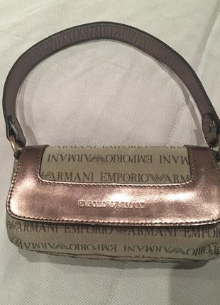 Мини сумка клатч emporio armani, италия, оригинал