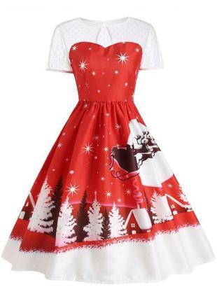 Красивое платье в новогоднем мотиве