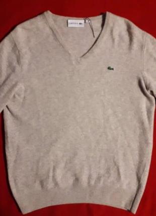 Шерстяной свитер кофта lacoste