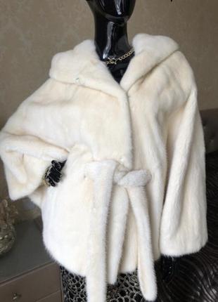 Норковая шуба с капюшоном cassie, греция летучая мышь, жемчуг, оверсайз 44-50