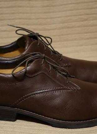 Мягкие комфортные закрытые коричневые кожаные туфли-дерби timberland smart comfort 48 р.