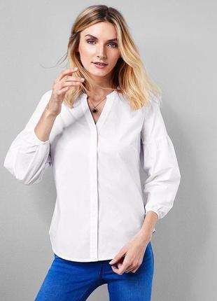 Классическая нежная блуза с объемными рукавами от tchibo размер l