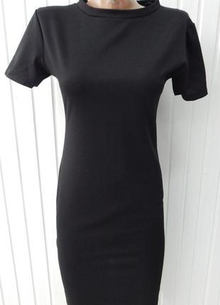 Маленькое черное платье короткий рукав why bee м