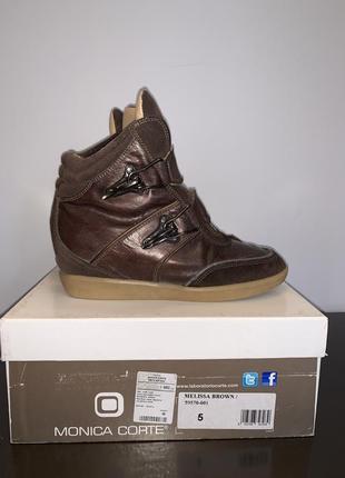 Сникерсы ботинки кроссовки кожа monica corte италия