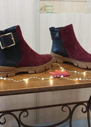 Ботинок зима бордо