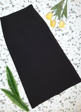 Стильная черная длинная юбка макси vero moda с завышенной талией, размер 44 - 46