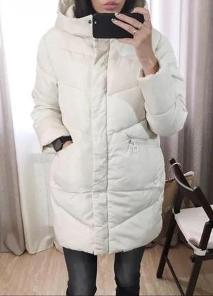 Куртка парка оверсайз зефирка